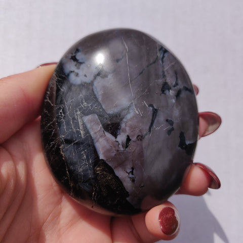 Mystic Merlinite Palm Stone with Flash (#2)
