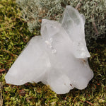 Raw Clear Quartz Cluster with Green Chlorite Inclusions  (#A2)