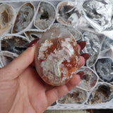 Flower Agate Palm Stone (#11)
