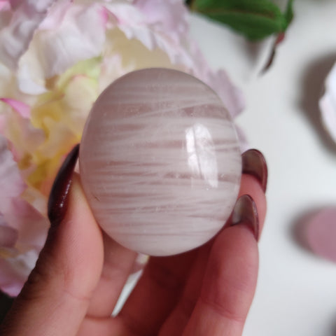 Rose Quartz Palm Stone (#3)