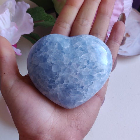 Blue Calcite Heart (#1)