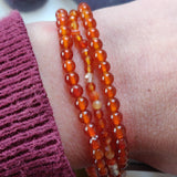 Faceted Carnelian Bracelet