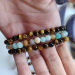 Tiger's Eye Bracelet with Round Beads