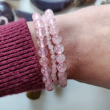 Rose Quartz Bracelet with 6mm Round Beads