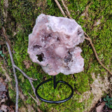 Pink Amethyst Slab on Metal Stand (#3)