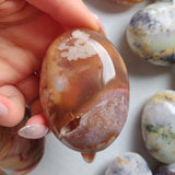 Flower Agate Palm Stone (#9)