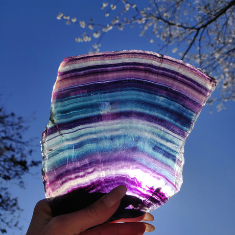 AAA Rainbow Fluorite Slab over 1.5 LBS! (#1A)