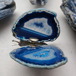Dyed Blue Agate Butterfly (#12)