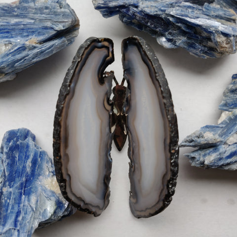 Natural Agate Butterfly (#1)