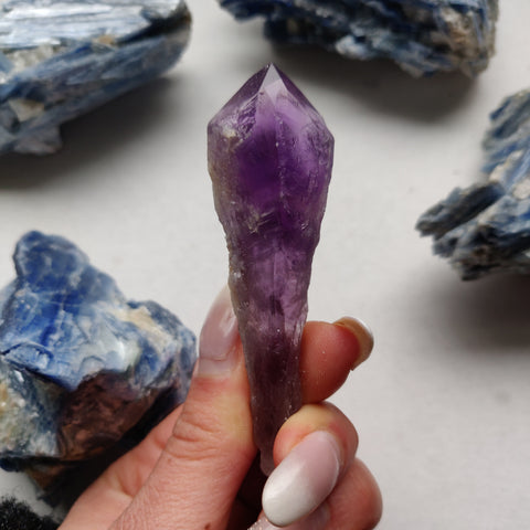 Bahia Amethyst Point, Amethyst Elestial Wand from Brazil (#9)