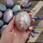Flower Agate Palm Stone (#15)