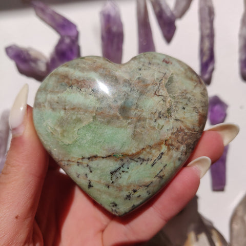 NEW Find from Madagascar! Calcozite Heart (#6)