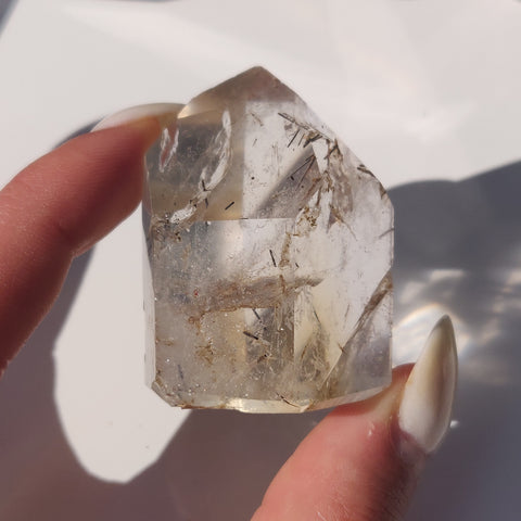 Citrine Point with Tourmaline Inclusions (#5P)