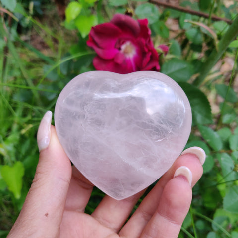 Rose Quartz Heart (#1)