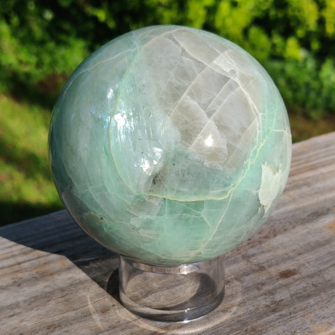 BLUE FLASH Garnierite Sphere (#2)