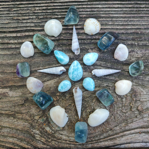 Reserved for Samantha, Lot of Larimar Cabochons
