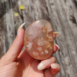 Flower Agate Palm Stone (#38)