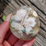 Flower Agate Palm Stone (#40)