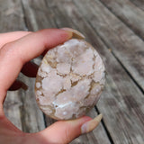 Flower Agate Palm Stone (#43)