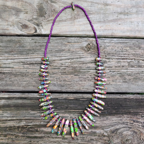 Handmade Rainbow Imperial Jasper Necklace