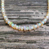 Handmade Ethiopian Opal Necklace