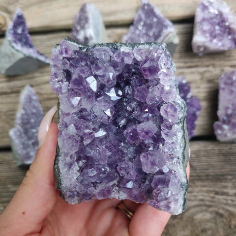 Amethyst Geode Free Form, Cut Base (#18)