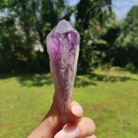 Bahia Amethyst Point, Amethyst Elestial Wand from Brazil (#15)
