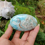 Blue Aragonite Palm Stone (#3)