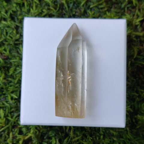 Citrine Point with Rainbow Inclusions(#1Q)