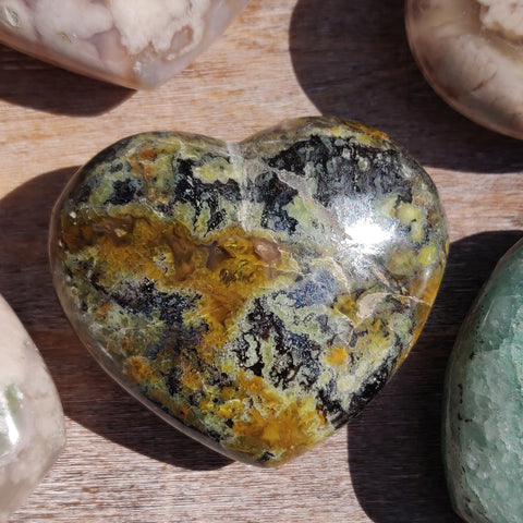 Matrix Green Opal Heart (#1)