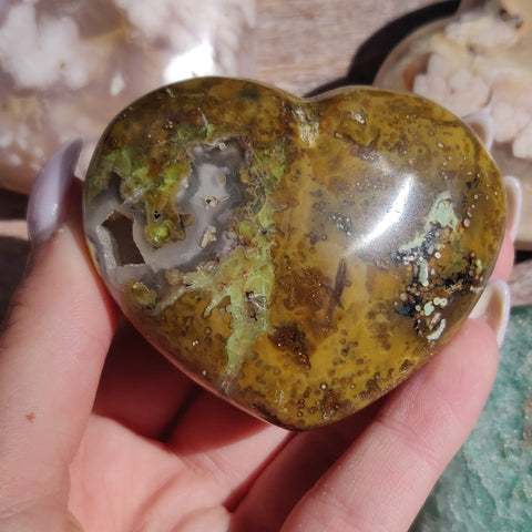 Matrix Green Opal Heart (#2)