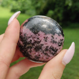 Rhodonite Palm Stone (#14)