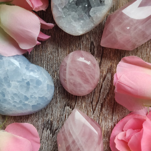 Rose Quartz Palm Stone (#14)