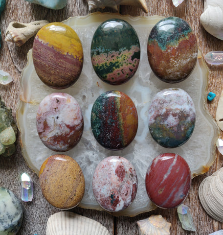 Ocean Jasper Palm Stones - Choose your Favorites