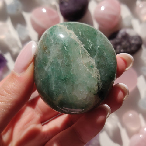 Green Aventurine Palm Stone (#6)