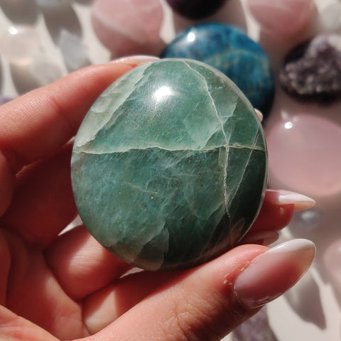 Green Aventurine Palm Stone (#8)