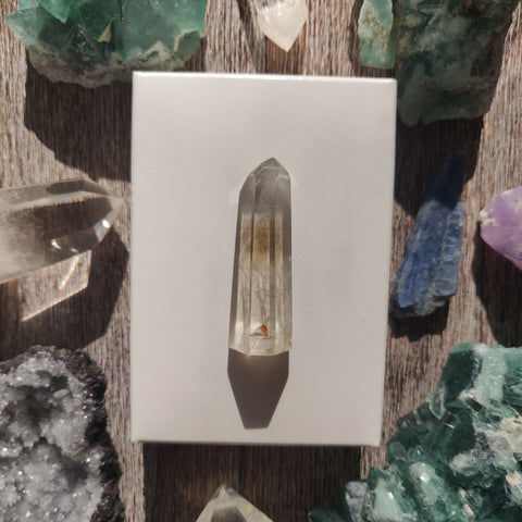 Citrine Garden Quartz Point, Lodolite Point (#9G)