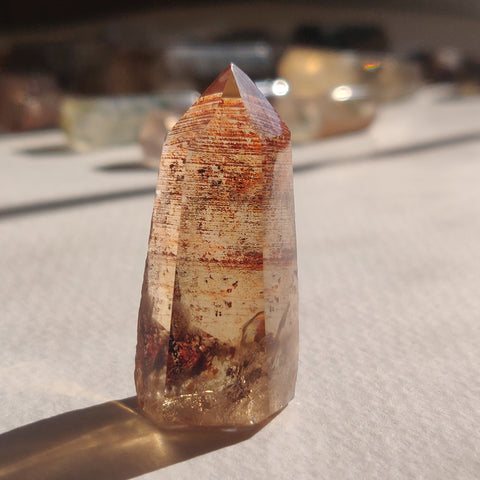 Smoky Garden Quartz Point, Lodolite Point (#10G)