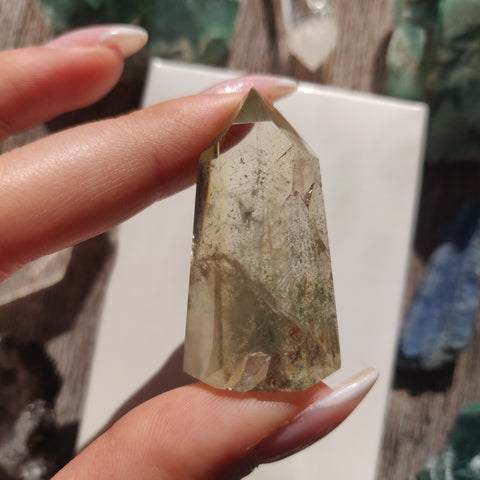 Citrine Garden Quartz Point, Lodolite Point (#11G)