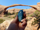 Blue Apatite Palm Stone, The Adventure Collection