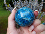 Blue Apatite Sphere