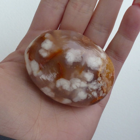 Flower Agate Palm Stone (#2)