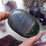 Reserved for Lynn, Labradorite Palm Stone (#6)