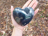 Quartz Geode & Blue Agate Heart (#5)