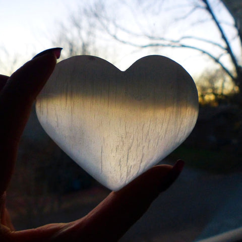 Selenite Heart (#1)