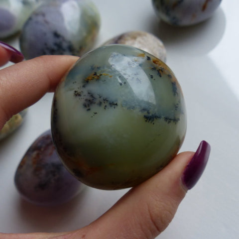 Dendritic Opal Palm Stone (#2)