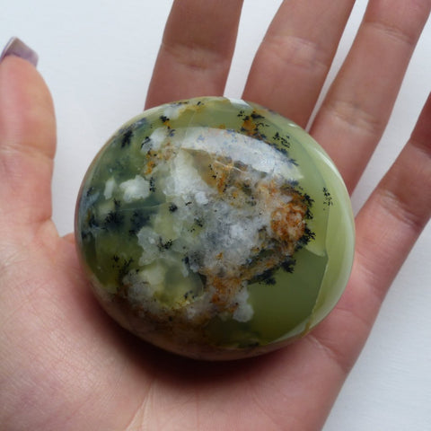 Dendritic Opal Palm Stone (#12)
