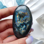 Reserved for Lynn, Labradorite Palm Stone (#107)