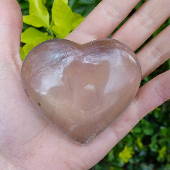 Milky Smoky Quartz Heart