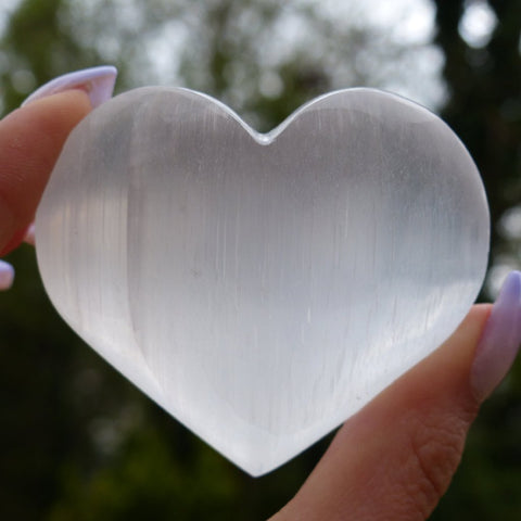 Selenite Heart (#2)